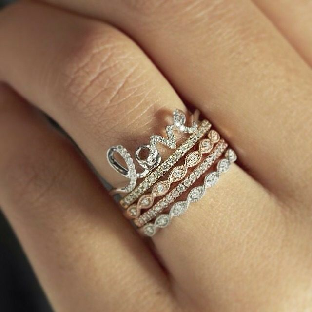 Zales Stackable Rings Stacked Wedding Rings Antique