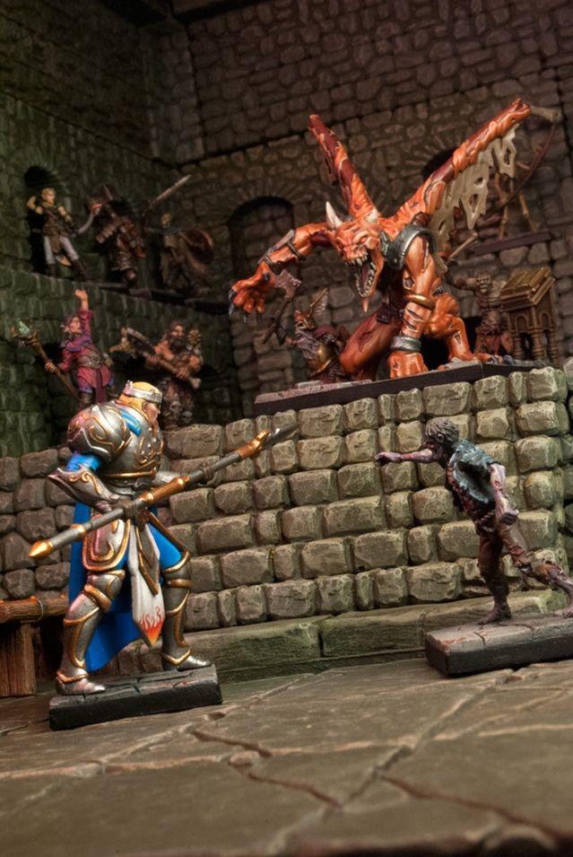 Dungeon Saga: The Dwarf King's Quest by Mantic Games — Valandor preparing to battle the legendary Ba'el