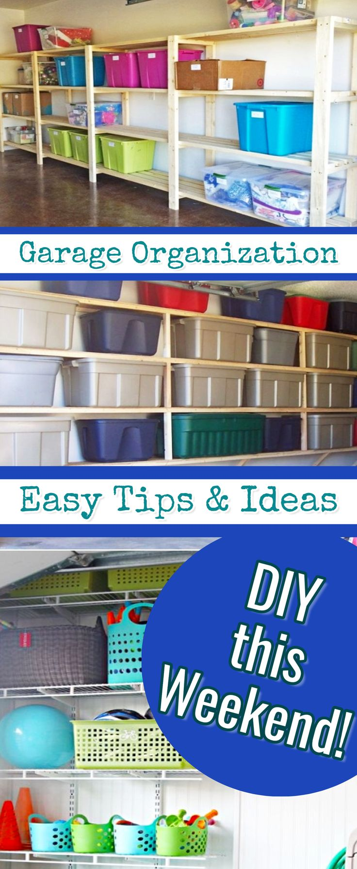 Garage Organization - Easy Tips & Ideas  - quick, cheap, and clever garage organizing ideas we love #garageorganization #garage #getorganized