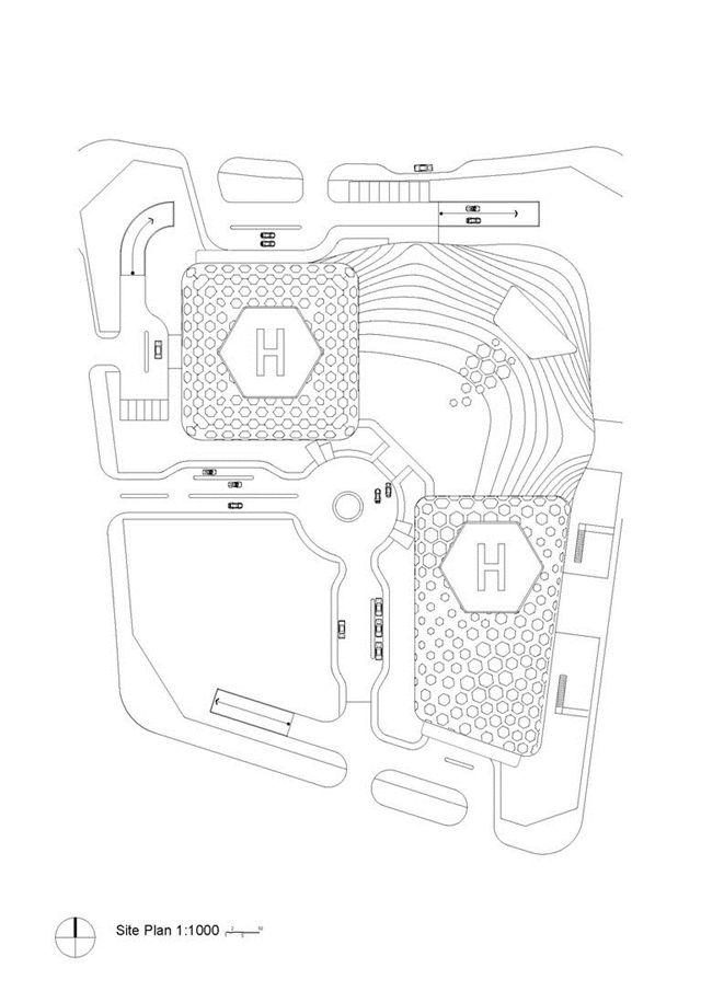 Sinosteel International Plaza site plan, Tianjin, China