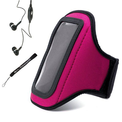 Neoprene WaterResistant Complete Sports Workout Adjustable 11 to 19 inch Armband With Key Holder for Huawei Ascend...