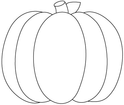 a simple pumpkin coloring page in jpg and transparent png format description from pinterest