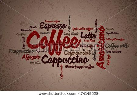 Wordcloud of coffee - stock vector