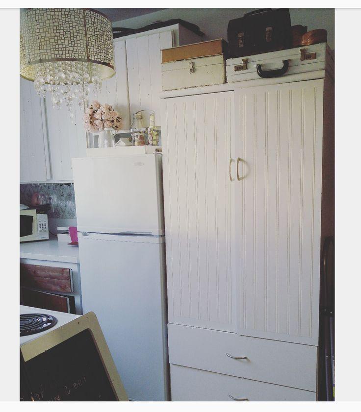 Small kitchen, shabby chic, vintage, white paradise.