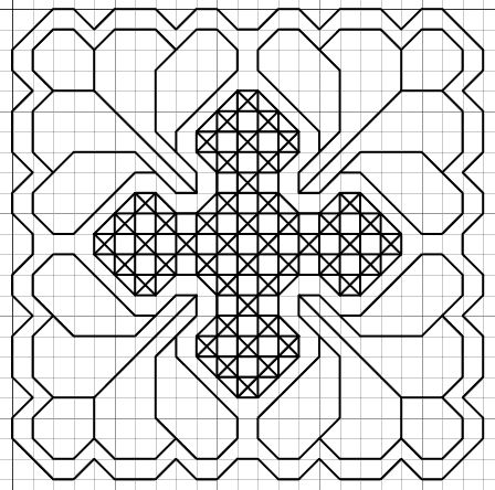 free blackwork small motif and fill pattern