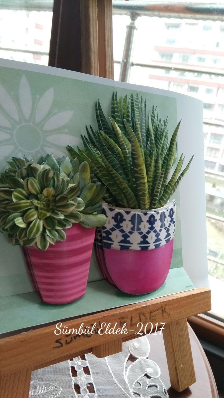 Cactus#papertole#miniature#kağıt#Sümbül Eldek