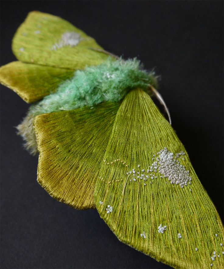Textile Moth and Butterfly Sculptures by Yumi Okita textiles sculpture moths insects butterflies: