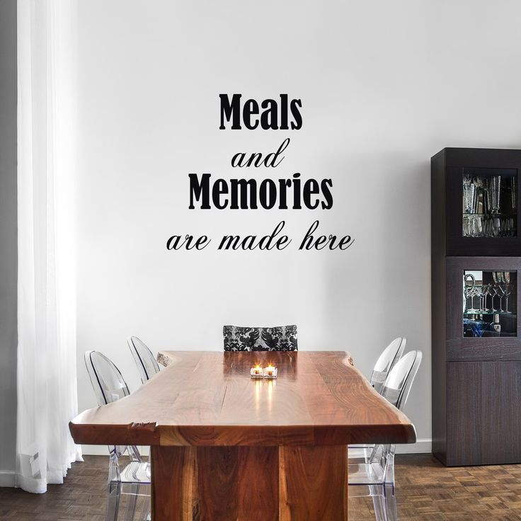 Decorate Your Dining Room With This Wall Quote Select The Size And Color That Best
