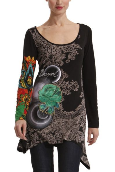 Desigual Yesi T-Shirt - Colour, cover, fun and fashion.  Say no more