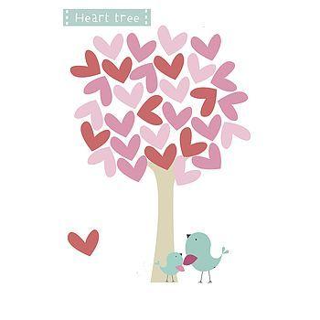 heart tree fabric wall stickers by littleprints | notonthehighstreet.com