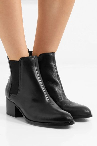 rag & bone - Walker Leather Chelsea Boots - Black - IT41