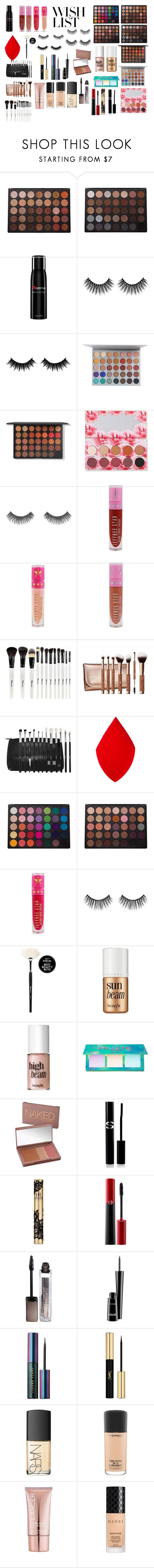 """#PolyPresents: Wish List"" by nirvanalover21 ❤ liked on Polyvore featuring Morphe, Jeffree Star, Benefit, Lime Crime, Urban Decay, Sisley, Giorgio Armani, Claudio Riaz, MAC Cosmetics and Puma"