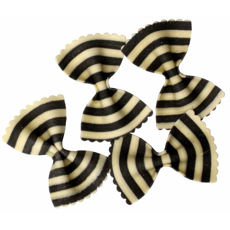 striped bowtie pastaWhite Bowties, Bows Ties, Bowties Mail, Bow Ties, Black And White, Italian Pasta, Dinner Parties, Black White, Stripes