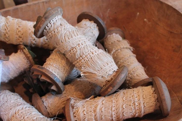 Oude houten klos