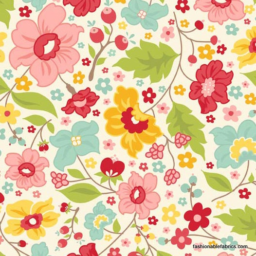 might be good place to buy:The Sweetest Thing Petals on Cream by My Minds Eye for Riley Blake Designs