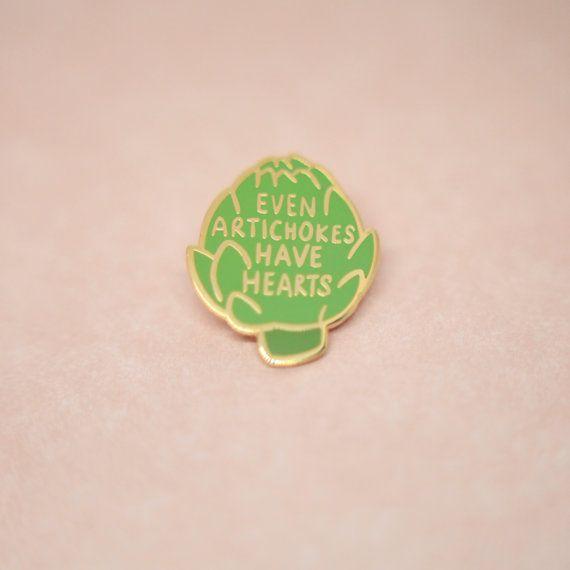 artichoke hard enamel, enamel pin, lapel pin, pin badge, flair