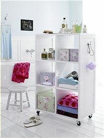 bathroom storage and room divider