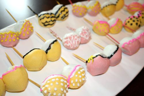 Bachelorette Party Cake Pops. (don't like them as cake pops but keep
