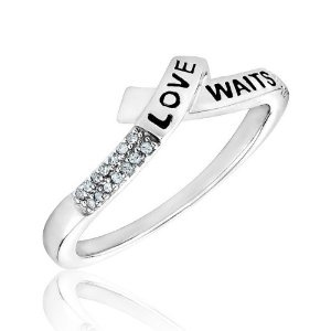 Sterling Silver Diamond Purity Ring --- http://nuff.us/tc