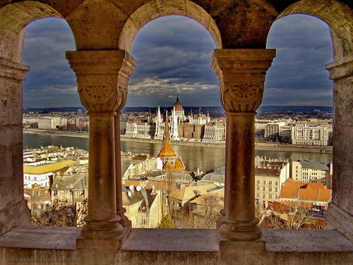 Fantastic view from the Fisherman's Bastion to the Pest side and the Parliament #Hungary #travel #Europe #Budapest