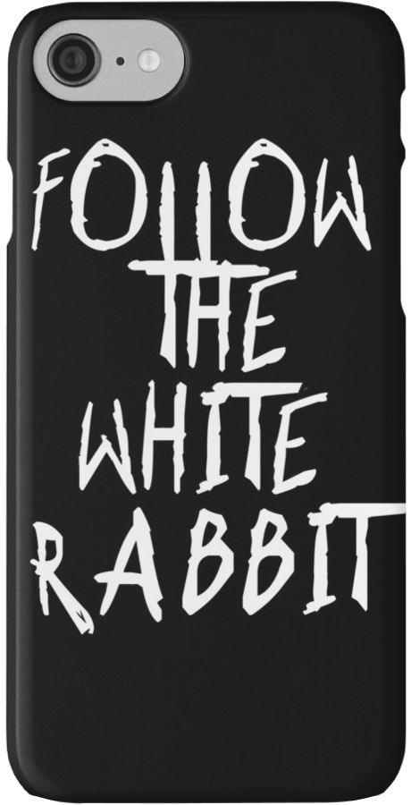 Follow the white rabbit... no. 2 by cool-shirts