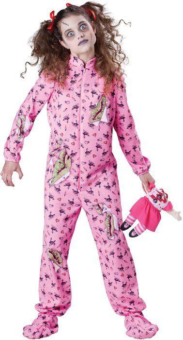 InCharacter Costumes Tween's Zombie Girl Costume, Purple, Small