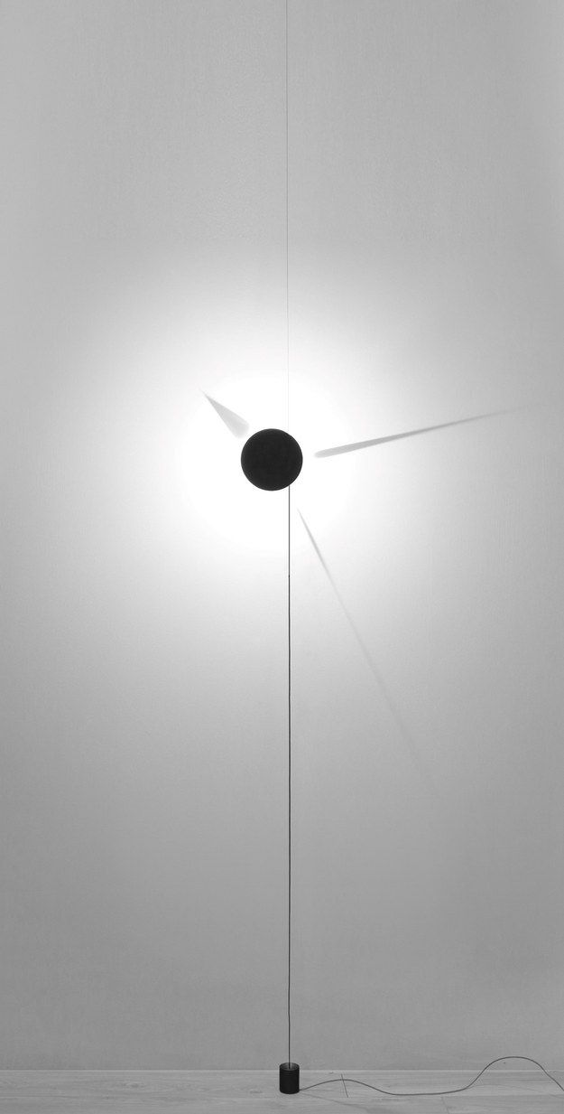 A luminous shadow clock.