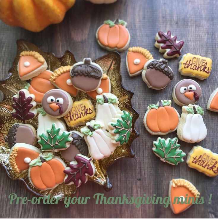 "It's still early but you can start prepping your Thanksgiving dinner with these cuties at your table Pre-order online now! www.natsweets.com click ""specials"""