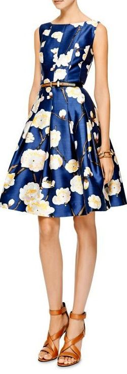 Floral-Print Silk-Blend Dress by Oscar de la Renta | cynthia reccord