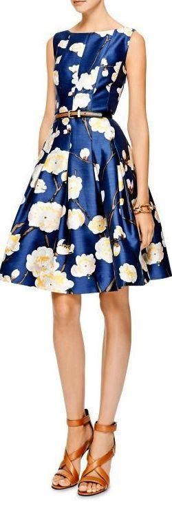 Floral-Print Silk-Blend Dress by Oscar de la Renta | cynthia reccord
