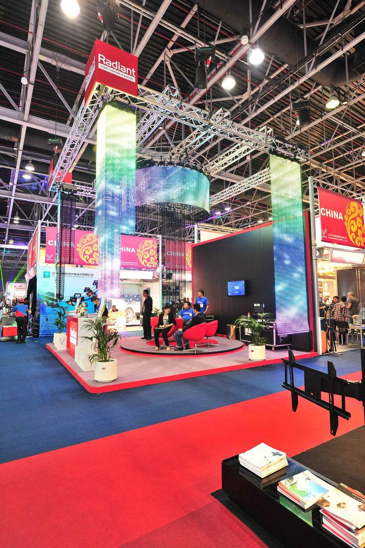 Trade Event Stands : Radiant event lighting and display custom exhibition stand