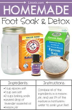 #21. Homemade Foot Soak And Detox -- 22 Everyday Products You Can Easily Make From Home (for less!) These are all so much healthier, too!