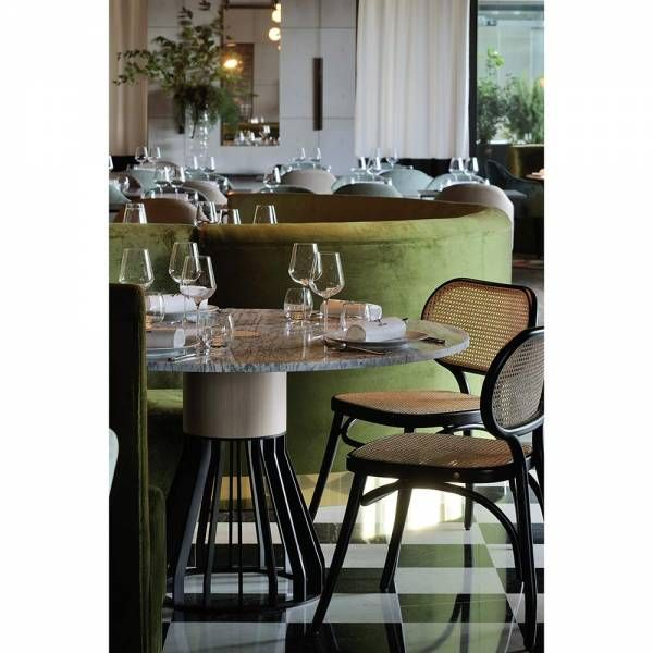 Mewoma Dining Table White Marble Top Restaurant Design