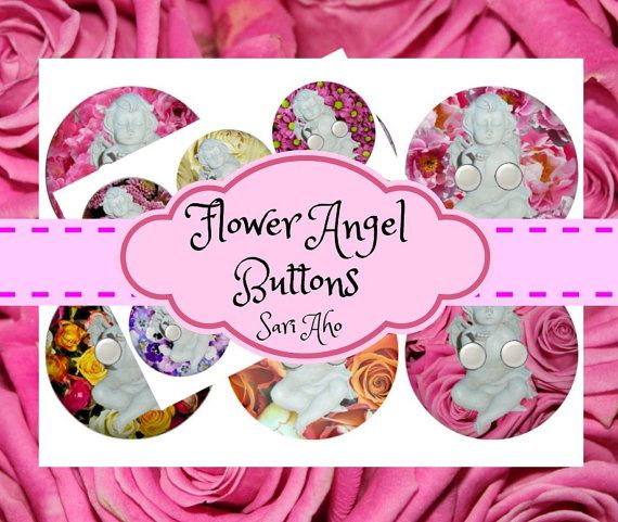 Angel buttons by ZaraTreasures on Etsy
