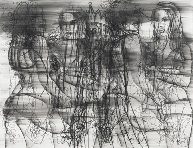 Ghada Amer - You My Love - 2011 - 50x65 in