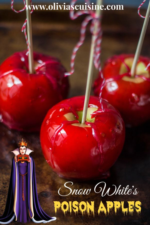 from the disney gourmet series snow whites poison apples httpwww - Gourmet Halloween Recipes