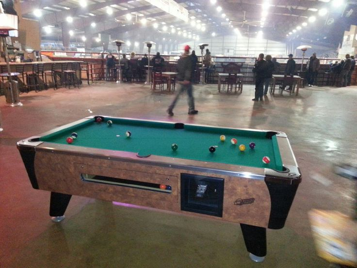 Dynamo coin operated pool table installed near Burleson, TX