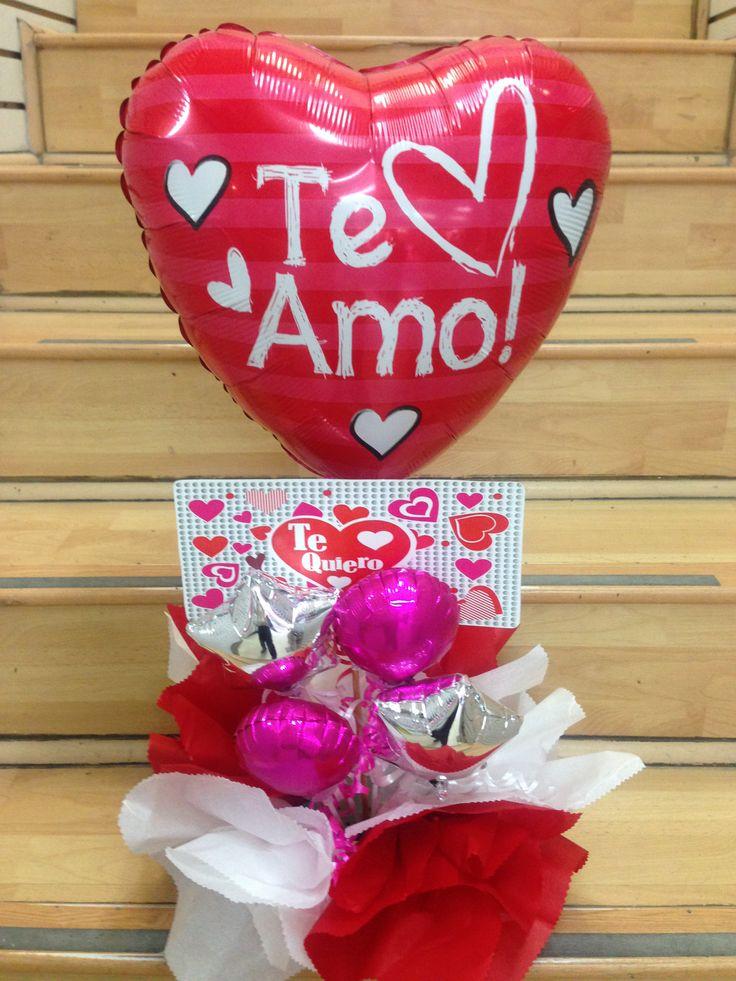 Arreglo san valentin globos pinterest paper hearts - Dulces de san valentin ...