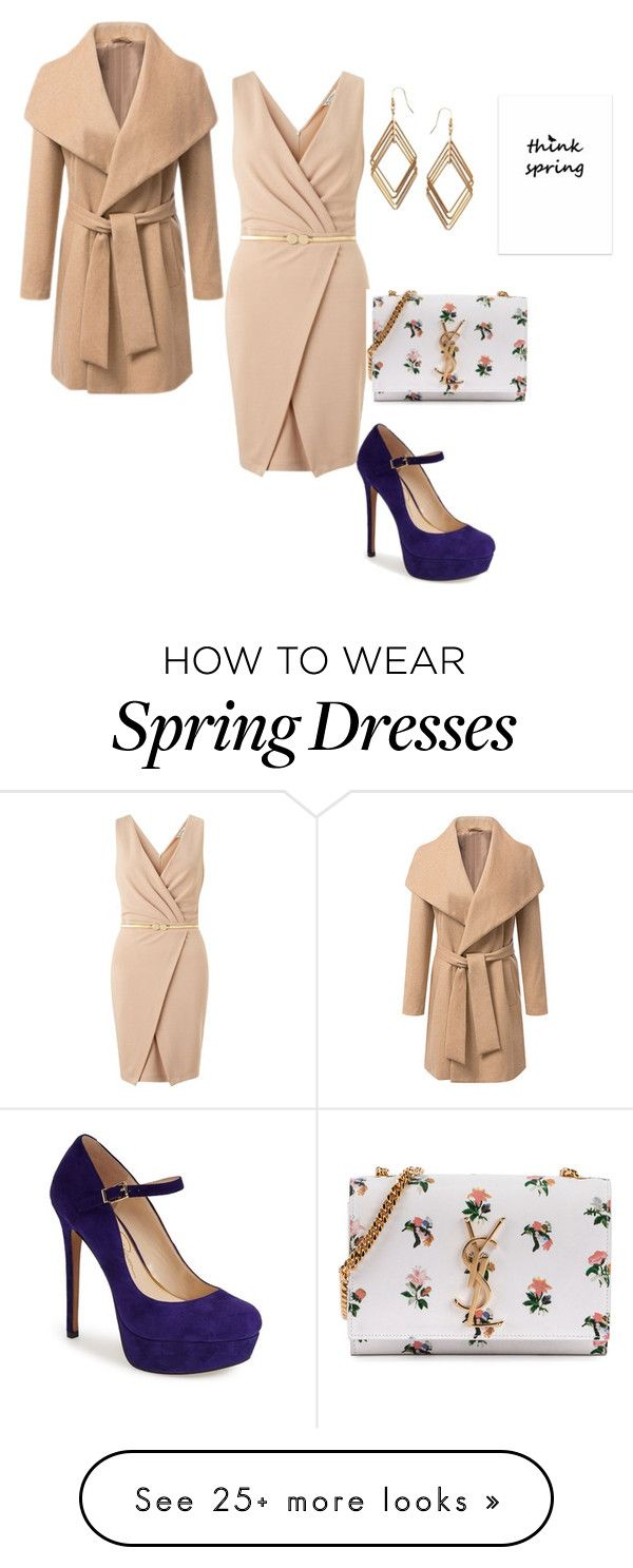 """""""Spring Look"""" by pixikiss on Polyvore featuring Jessica Simpson, Miss Selfridge, Yves Saint Laurent, ASOS, women's clothing, women's fashion, women, female, woman and misses"""