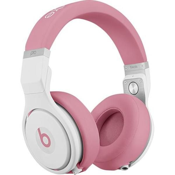 "Nicki Minaj's Beats Pro Headphones have been listed on Best Buy's website! Soon you will be able to immerse yourself in robust sound with these Beats By Dr. Dre Beats Pro over-the-ear headphones in ""Nicki Pink."" The headphones feature a sound-isolating design to envelop you in rich audio and backward-rotating earcups that allow you to monitor your surroundings."