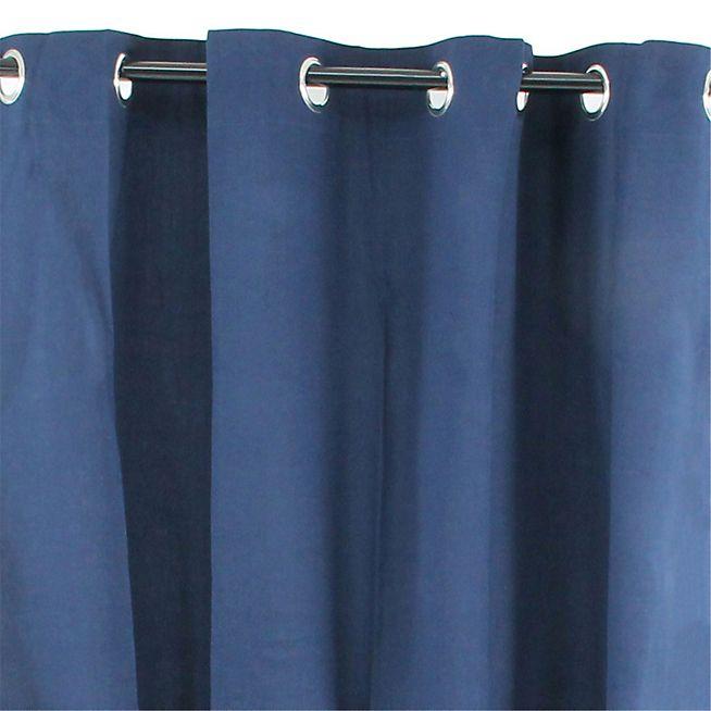 Almera Rideau à œillets 140x250cm bleu marine