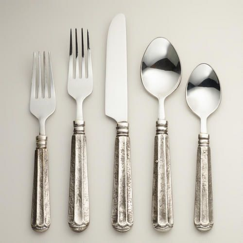 One of my favorite discoveries at WorldMarket.com: Danieli Flatware Collection - each set of 4 $16