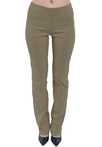 PattyCandy Womens Tan Straight Leg Bootcut Pants, Tan - S...