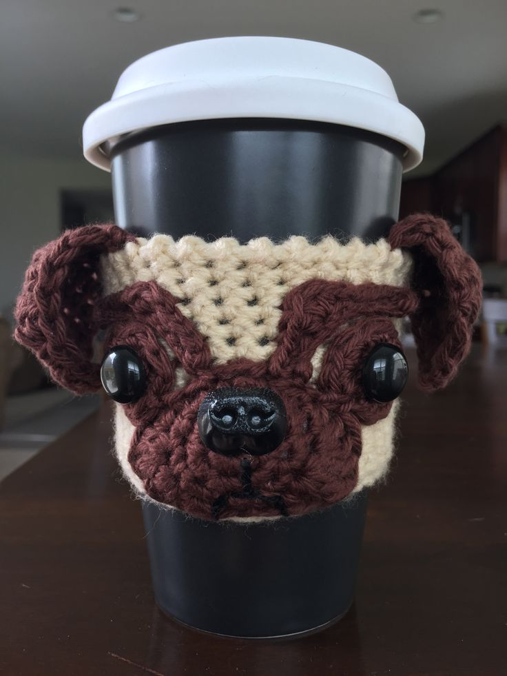 Crochet Pug Cozy, Crochet Pug, Crochet Dog Cozy