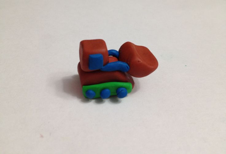Трактор из пластилина мастер класс