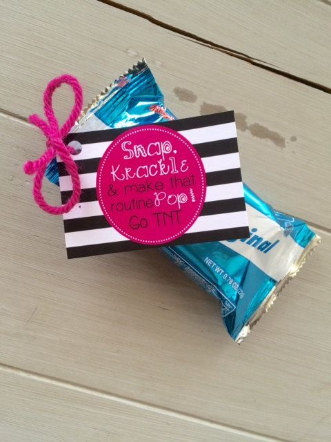 Customized Cheerleading Good Luck Rice Krispie Treat Favor Tags- PDF file SNAP, Krackle, Pop