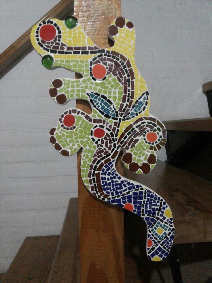 Iguana en mosaico