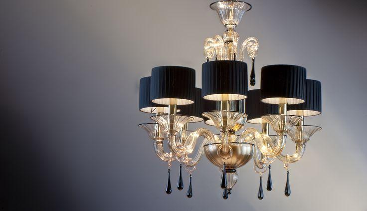 Grimani Gold Black #yourmurano #muranoglass #chandeliers