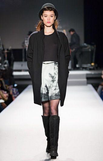manteau agnes noir | agnès b.