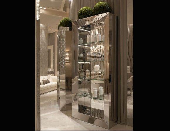 Nella Vetrina Luxury Italian Bookcase Library Column Show